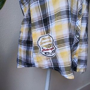 Harley-Davidson Tops - Harley-Davidson Embroidered  Shirt w/ patches M